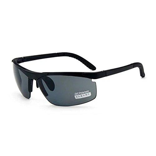 Garrelett Outdoor Sports Driving Sunglasses Polarized Sun Eyeglasses Reflective Sun Eyewear Grey Lens Black Frame for Men and ()