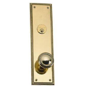- Academy Single Cylinder Entrance Knobset Finish: Satin Nickel