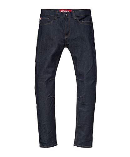 Saint Work Jeans, 5-Pocket Denim Work Pants Made from Dyneema Fiber - The World's Strongest Denim (Indigo, 32 (Standard Mens 5 Pocket Jean)