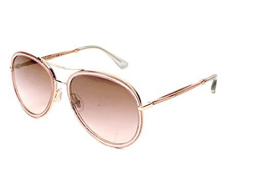 Jimmy Choo Tora/S QBQ Pink Glitter Tora/S Aviator Sunglasses Lens Category 2 - Choo Sunglasses Jimmy Aviator