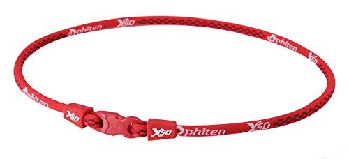 - PHITEN X50 Original Necklace, Red, 18