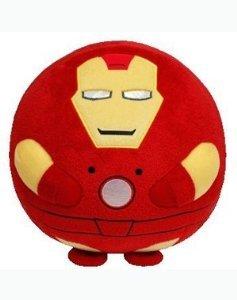Ty Beanie Ballz 비니 볼의 Iron Man 아이언 맨 Plush,Medium 봉제인형 인형 병행수입