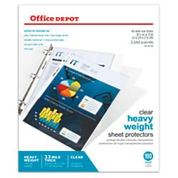 office-depot-heavyweight-sheet-protectors-8-1-2in-x-11in-clear-pack-of-100-od491658