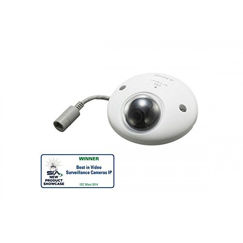 FHD network camera, Exmor CMOS sensor, SD card slot (up to 32GB), View-DR (90dB wide dynamic range), 113° horizontal viewing angle, xDNR, image stabilizer, built-in microphone, RJ45 connector, IK10, IP66, PoE. Anti-vibration compliant (ISO 16750). (Sony Wide Angle Security Camera)