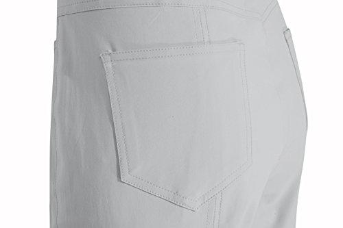 Stehmann - Pantalones para Mujer gris claro