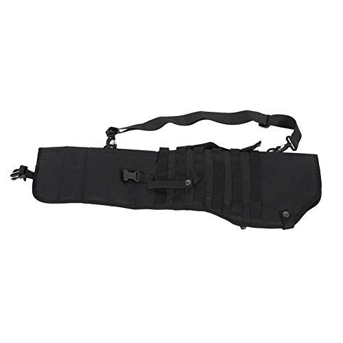 (Alomejor Rifle Gun Holster Nylon Tactic Molle Shotgun Scabbard Black for Gun Protection Storage Bag)