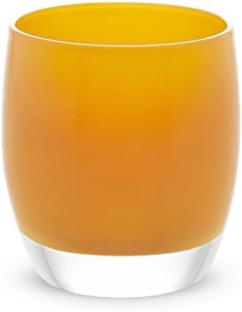glassybaby Votive Candleholder Pumpkin