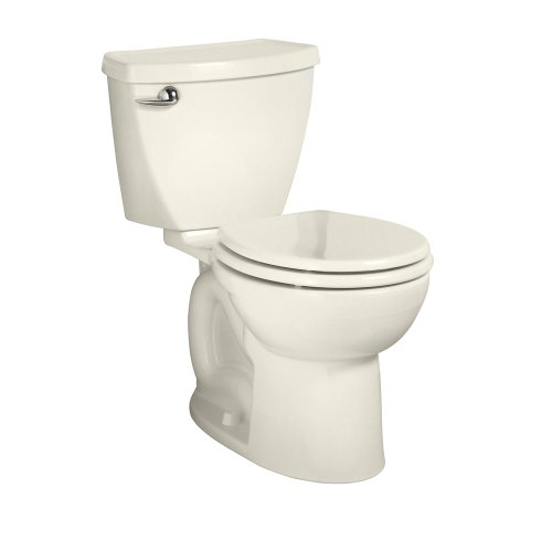 American Standard Cadet 3 Right Height Round Front Flowise Two-Piece High Efficiency Toilet with 12-Inch Rough-In, Linen Linen by American Standard