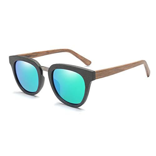 Gafas del la Green la Libre Color Gafas Green Lente del al polarizadas Cuadrado Marco de con sol Hombres Color Aire de Deportivas bambú Moda Gafas clásicas de los xqYwEPUp