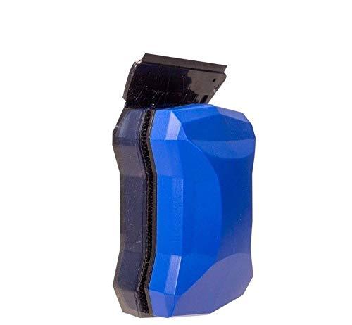 JAJALE Magnet Algae Scraper Cleaner for Acrylic Glass Aquarium 2 Blades 10-75 G (X-Large, Blue) ()