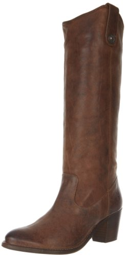 FRYE Women's Jackie Button Boot, Cognac Pressed Nubuck, 6 M (Womens Jackie Button Boot)