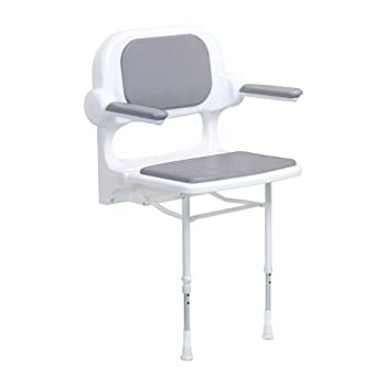Image of ARC ES2130-GR Economy Standard Seat with Back and Arms, Gray