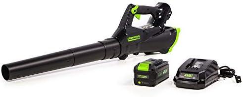Greenworks 40V Cordless Axial Leaf Blower, 390 CFM 110 MPH, LB-390