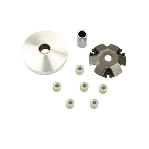 (Chanoc Complete Variator Roller Drive Wheel Assembly for GY6 49cc 50cc ATV Moped Scooter 139QMA 139QMB)