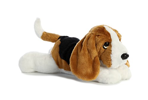 Aurora World Flopsie Toy Basset Hound Plush, 12