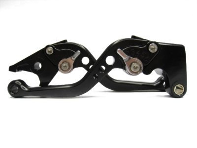 A pair of Short Billet Aluminum Clutch & Brake Levers Motorcycle Set for Yamaha YZF R6 2005 2006 2007 2008 2009 2010 2011 2012 2013 - Billet Brake Aluminum Lever