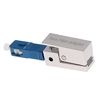 MagiDeal 1xOptics Fiber Connector SC Square Test Bare Fiber Flange Temporary Adapter