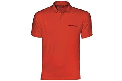 Amazon.es: Porsche Hombre Classic Polo L rojo