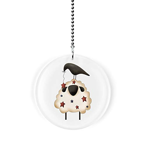 Americana Sheep and Crow Fan/Light Pull
