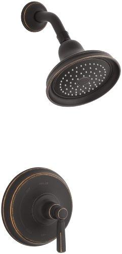 KOHLER T10583-4-2BZ Bancroft Rite-Temp Pressure-Balancing Shower Faucet Trim with Metal Lever Handle, Oil-Rubbed Bronze - Bancroft Toilet Classic