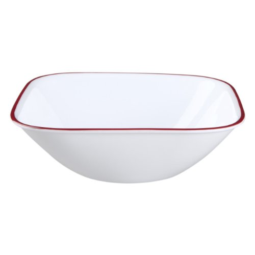 Corelle Square Splendor 22-Ounce Bowl Set (6-Piece) (Square Cereal Bowl)
