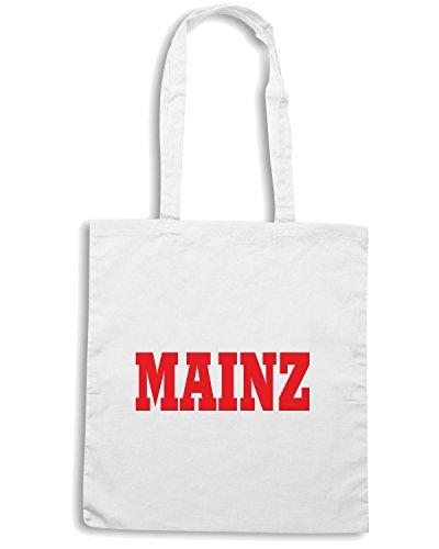 T-Shirtshock - Bolsa para la compra WC0787 MAINZ GERMANY FOOTBALL Blanco