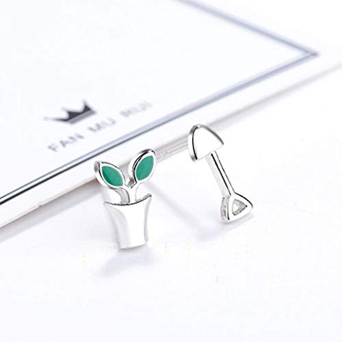 Gift Women Creative Potted Plant Shovel Fashion Jewelry Stud Earring Ear Stud (Costa Del Nar)