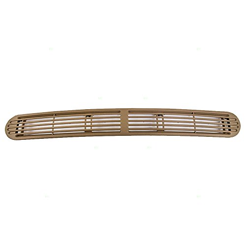 Beige Dash Defrost Vent Cover Grille Panel Replacement for Chevrolet GMC Oldsmobile SUV Pickup Truck 15046436 ()