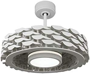 Todays Fans LUMIO Bladeless Ceiling Fan, 6 Speeds with Dimmable LED Light 21 , White