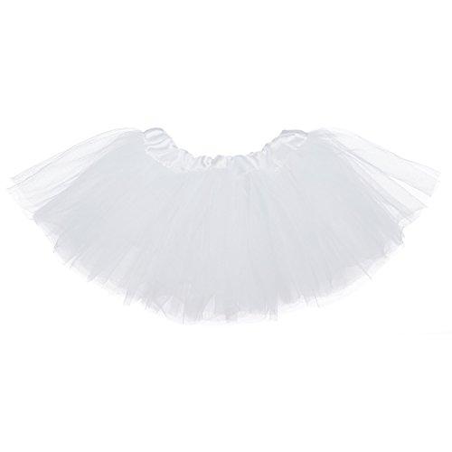 My Lello Baby 5-Layer Ballerina Tulle Tutu White (0-3 mo.) ()