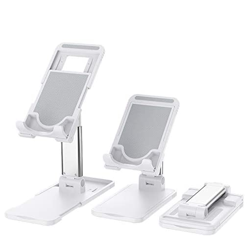 Otinlai Cell Phone Stand for Anywhere Portable Phone Stand Tablet Stand Adjustable Telescoping Smart Phone Stands Fold…  