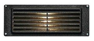 Hinkley Lighting 1594BZ-LED Louvered LED Brick Light with 1.5-Watt 12-Volt LED Light Source, Bronze Powder Coat by Hinkley