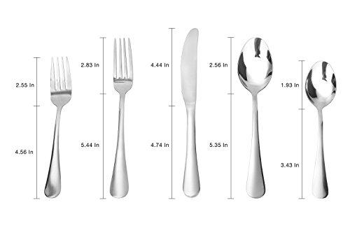 Flatware Set Mcirco 5 Pieces Spoons Set 18 8 Heavy Duty