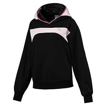 PUMA Women's Sweet Hoodie, Puma Black/Barely Pink, XS
