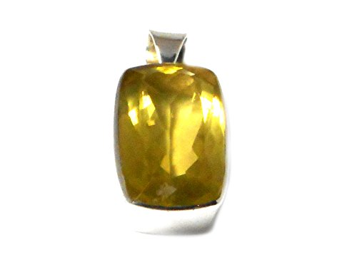 Quartz Citron-Pendentif Femme-Argent 925/1000-(lqp0501162)