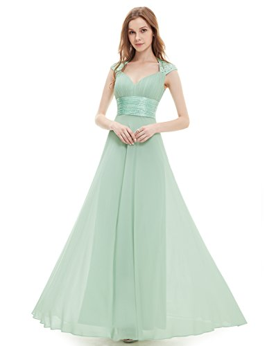 Mint Tie Waist Dress - Ever-Pretty Womens Empire Waist Chiffon Black Tie Formal Evening Dress 14 US Mint Green
