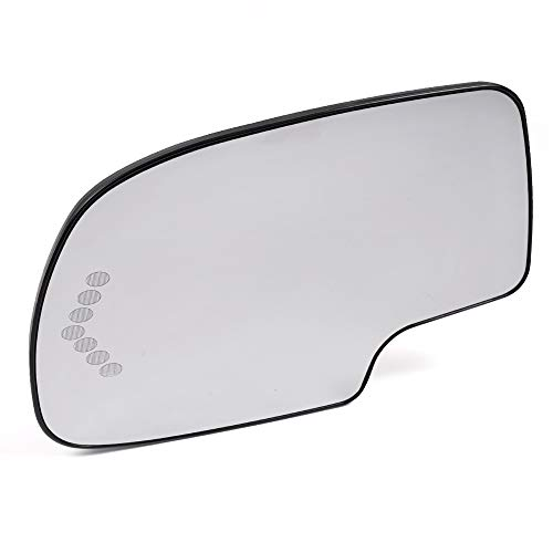 - Fit for Chevy Silverado Tahoe Suburban Avalanche Escalade GMC Sierra Yukon XL 2003-2006 Mirror Glass Power Heated with Signal Left Driver Side LH (Without Auto Dimming)