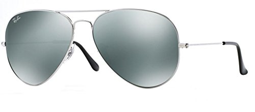 Ray Ban 3025 Aviator RB 3025 003/40 62mm Silver Frame / Full Silver Mirror - Silver Bans Mirrored Ray