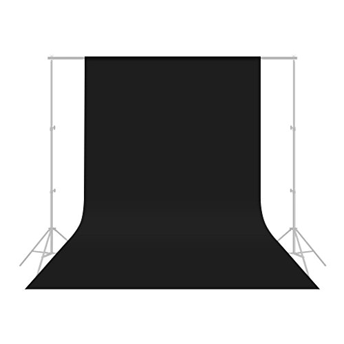 - Black 10 x 20FT / 3 x 6M Photo Studio Backdrop Black Background for Photography,Video and Televison (Background ONLY)