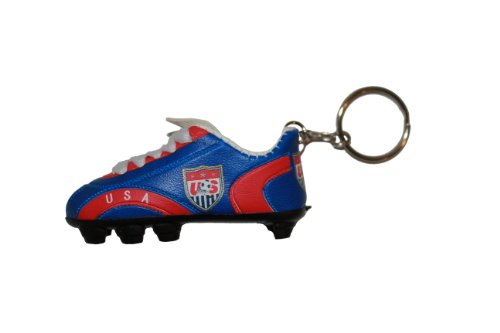 USA Blue Red Soccer Shoe Cleat Keychain . High Quality .. New