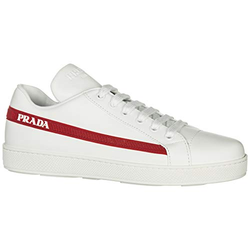 Donna Bianco Sneakers Rosso Sneakers Prada Bianco Donna Prada Sneakers Rosso Prada Donna ATWqzv