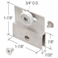 3/4'' Flat Edge Nylon B.B. Chrome Framelss Sliding Shower Door Roller Assembly - Package