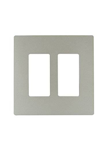 Legrand - PASS & SEYMOUR RWP262NICC6 Radiant Nickel 2 Gang Screwless Plastic Wall Plate Discount Charger Plates