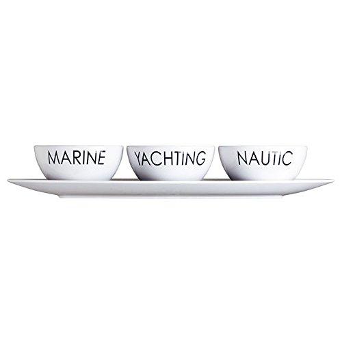 Marine Business Melamin Dipschalen Set mit Tablett