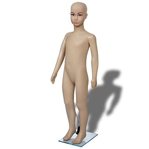 vidaXL Child Mannequin Full Body PE Realistic Display Head Turns Dress Form w/Base