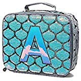 Justice Mermaid Lunch Tote Initial (letter -