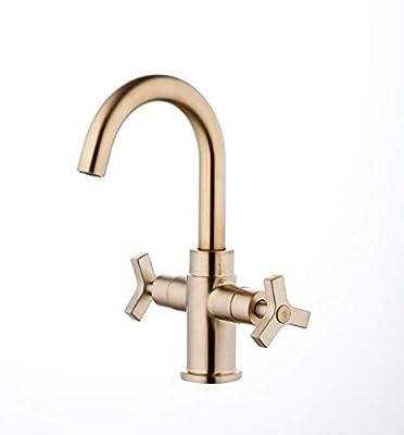 Derengge Two-Handle Single Hole Bathroom Sink Faucet