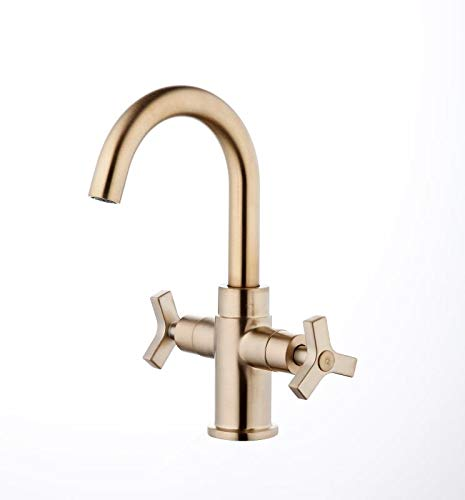 Derengge F-0081-CS Two-Handle Single Hole Bathroom Sink Faucet,French Brushed Bronze Finished (Bronze Single Hole Faucet)