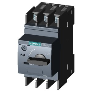 Siemens 3RV2021-4CA10 Screw and Snap-On Mount Circuit Breaker 3-Pole 22 Amp 690 Volt AC
