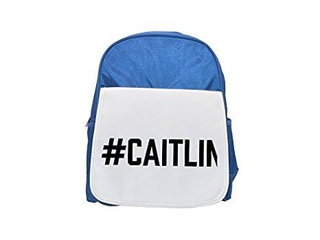 Fotomax Mochila azul para niños con estampado de la marca CAITLIN, bonitas mochilas pequeñas,